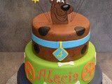 Gâteau pâte à sucre Scooby Doo