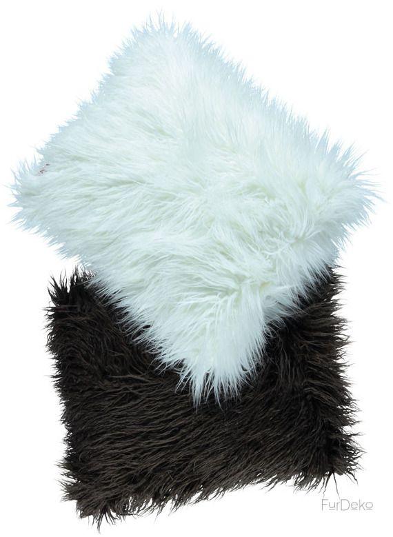 Poduszka dekoracyjna LUMA brązowy/Faux fur pillow LUMA brown