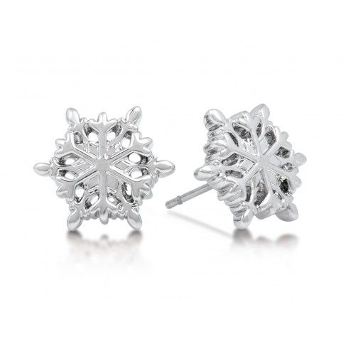 Disney Couture Frozen Snowflake Stud Earrings at aquaruby.com