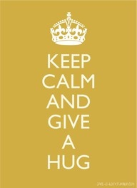 keep calm and give HUG