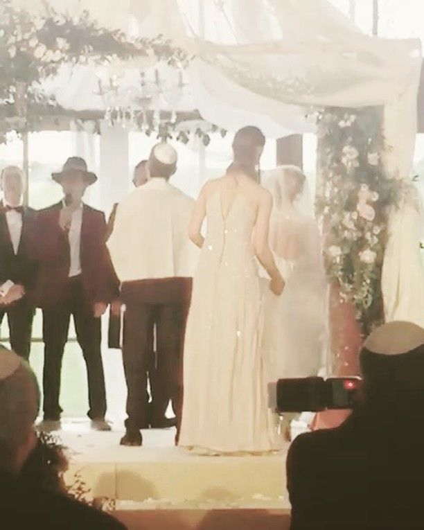 A rustic-chic Jewish wedding at Soho Farmhouse UK | Smashing the Glass | an Elizabeth Fillmore gown and a wildly romantic blush floral Chuppah