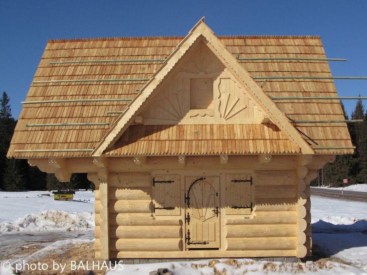 small log hut