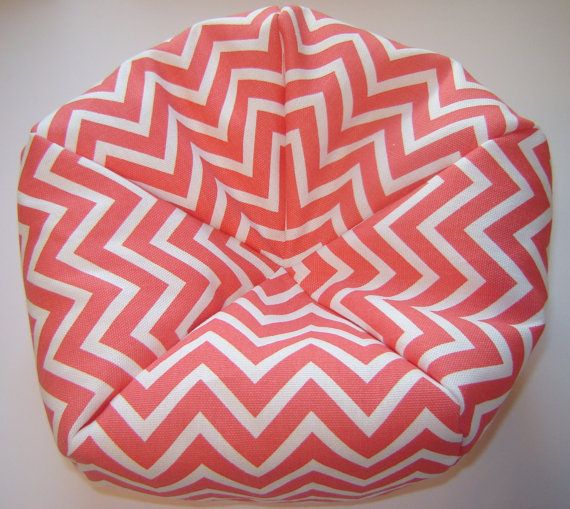 Doll Bean Bag Chair For 18 Inch American In Coral And