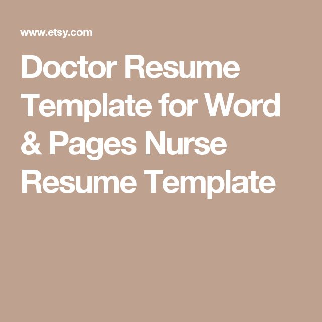 20+ beste ideeën over Nursing resume template op Pinterest - nurse resume template