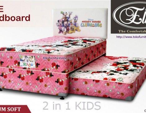Spring Bed Elite 2 in 1 KIDS Utopia/Happy Cow/Mickey  Motif Utopia/Happy Cow/Mickey MEDIUM SOFT