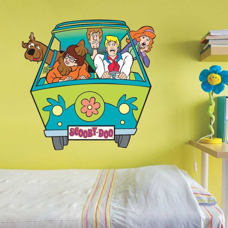 scooby doo wall sticker for ryan 39 s room bedroom makeover