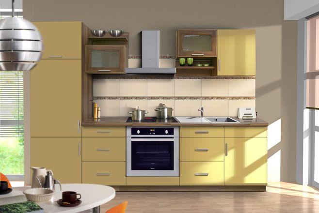 Фото кухни желтого цвета