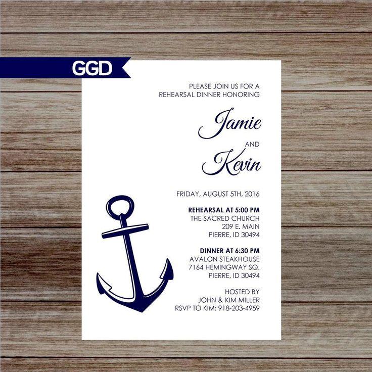 creative wording for rehearsal dinner invitations%0A Nautical Rehearsal Dinner Invitation by GoldenGirlDesignz on Etsy