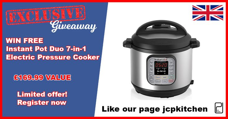 Giveaway: Instant Pot Duo 7-in-1 Electric Pressure Cooker – UK