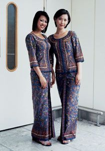 Singapore Airlines uniform 1968 Balmain