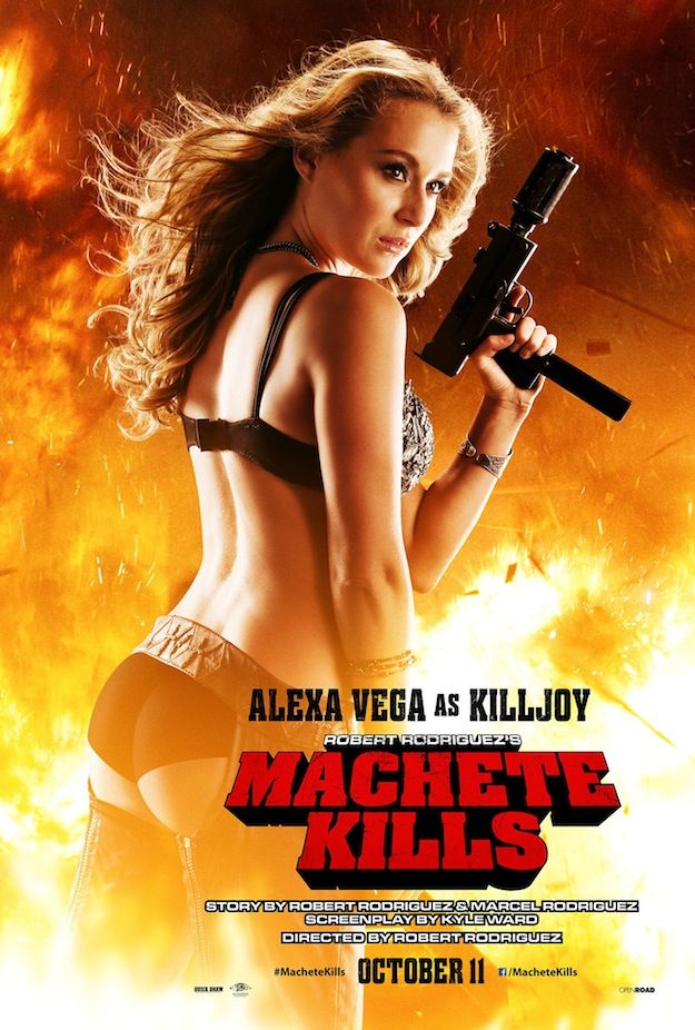 Machete Kills Delivers an Alexa Vega Poster and a Red Band Clip - ComingSoon.net