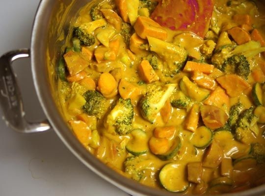 Yummy curry recipe to try.  Use coconut oil rather than butter and sub coconut milk for almond milk and it's Paleo.