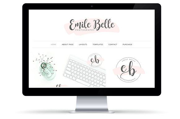 Emily Belle WordPress Theme by Wacky Jacqui's Designs on @creativemarket