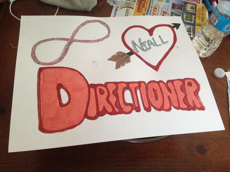 One of my signs for the ONE DIRECTION CONCERT TODAY ASDFGHJKL<33333