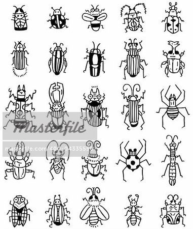 hand draw insect icon Stock Photo - Royalty-Free, Artist: notkoo2008, Code: 400-04335550
