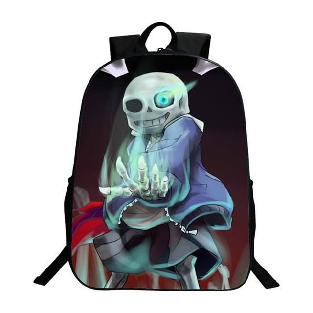 2017 New Arrival Kids Cartoon Undertale Bags School Bags for Teenagers Boys Zipper Black Backpack for Children High Quality