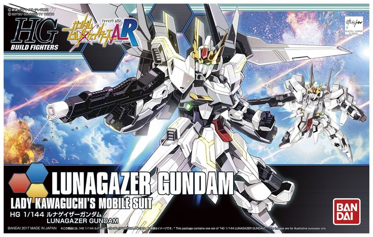 HGBF 1/144 Lunagazer Gundam  [Gundam Build Fighters Ready]  Release Date: January 2017  Price: 2,170 Yen   First images from 56th All Jap...