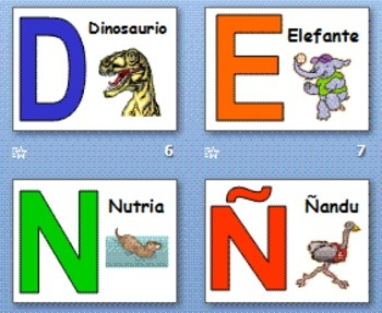 how many letters are in the spanish alphabet alphabet with animals powerpoint and signs alfabeto 1279
