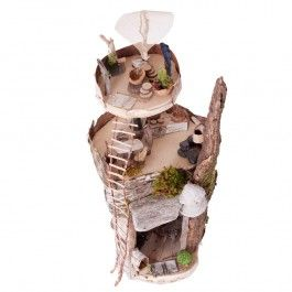 Fairy Tree House Building Kit for Kids. Contains everything needed to create a multi-level magical fairy house! Decorate with the included moss, bark, driftwood, pinecones, and feathers. $49.95