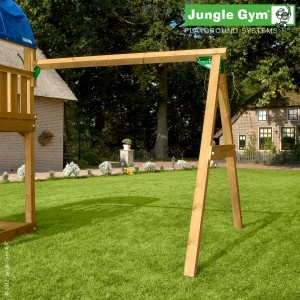 Swing Module - A playground is incomplete without the popular back and forth of an wooden swing.