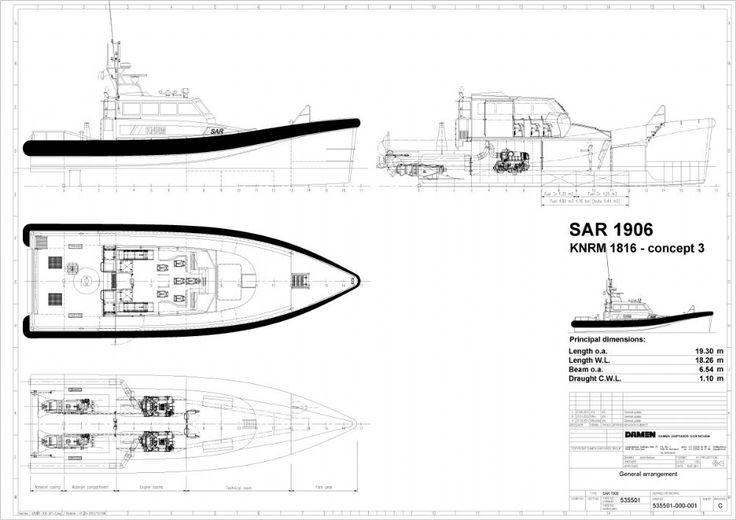 KNRM Nieuws - Het ontwerp van de nieuwe reddingboot NH1816