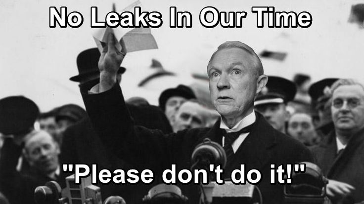 "AG Jeff Sessions Announces: ""Just Don't Do It"" Leak Prevention Initiative… 
