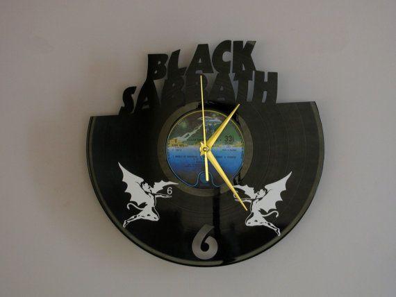 Black Sabbath clock Wall clock Ozzy Osbourne Black by Revinylit