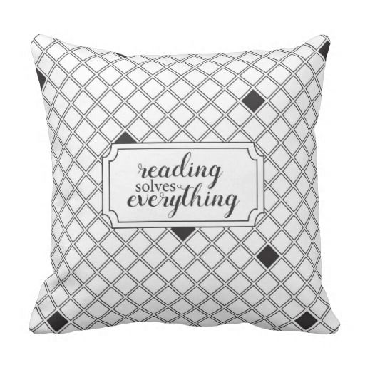 Reading Solves Everything Throw Pillow Coloring BooksAdult ColoringThrow Pillows