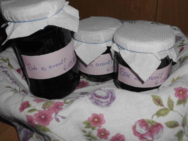 Gotowanie...to proste!: Sok i naleweczka z aronii - czyli dwa z jednego !