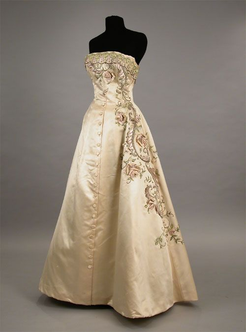Balmain Ball Gown Late 1950s From Doyle New York Fashion 1940s
