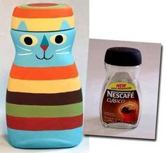 DIY Upcycle Coffee Bottles Idea
