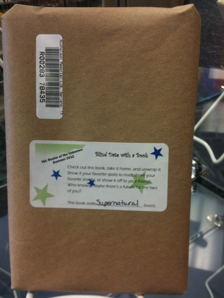 "Blind date with a book--wrap a book in a brown bag & stick a barcode on it.  This book is great for ""x"" genre readers."