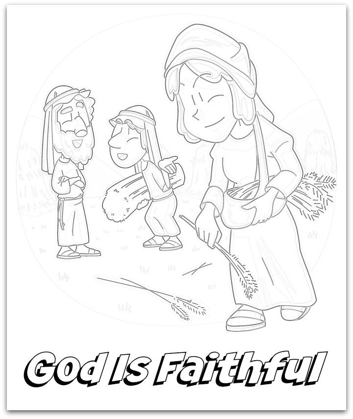 ruth gleaning coloring pages - photo#41