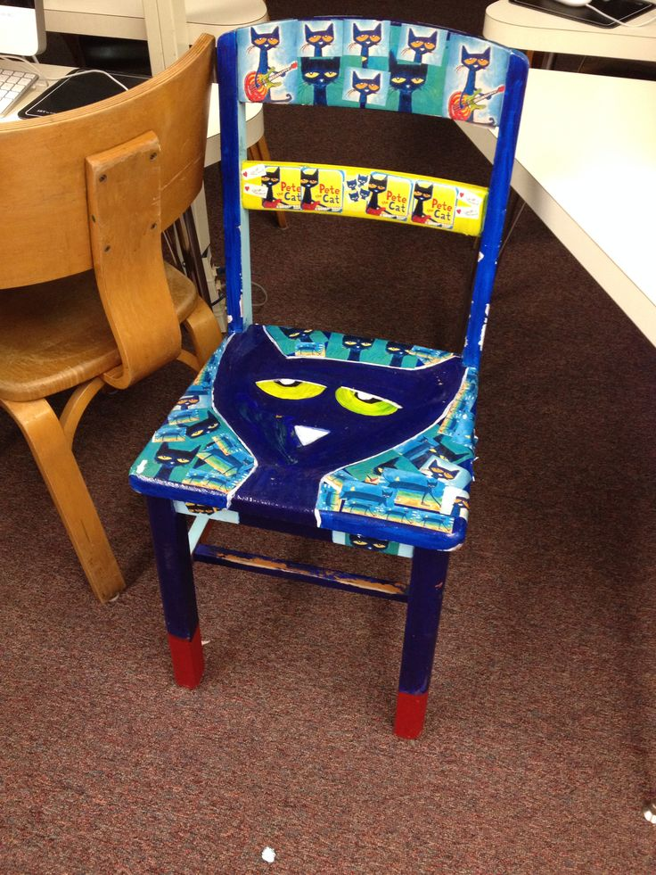 Hand painted Pete the Cat Chair | Classroom | Pete the ...