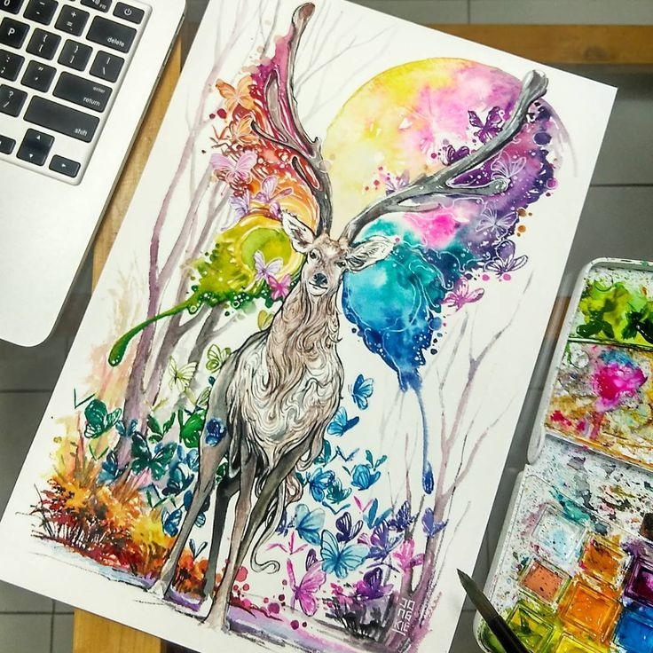 Mesmerizing Animal Watercolor Portraits by Luqman Reza Indonesia-based artist…