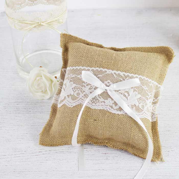 Burlap Ring Cushion from My Wedding Store