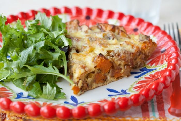 Frittata with Caramelized Onions, Sausage and Sweet Potato (Paleo ...