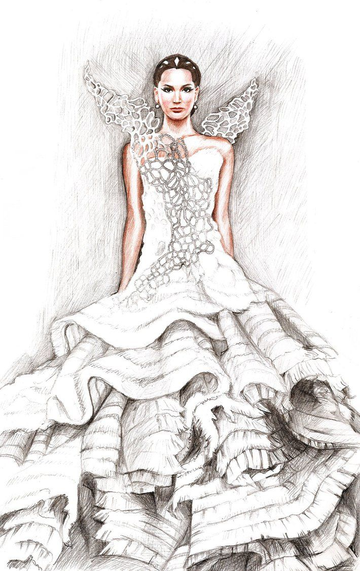 Easy wedding dress drawing