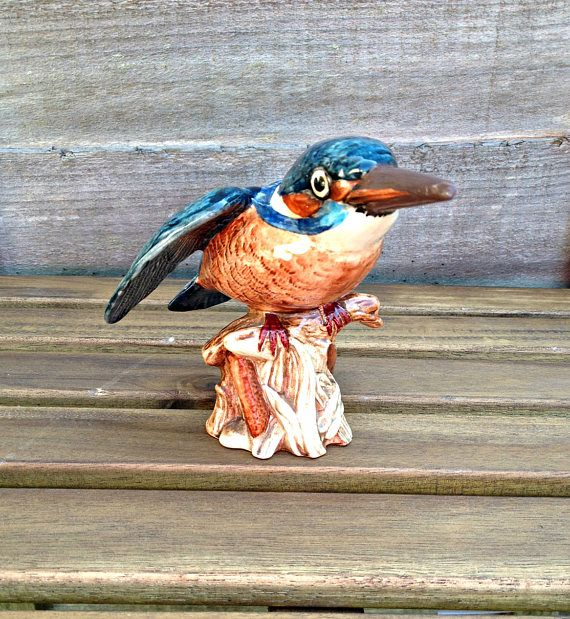 Beswick Kingfisher, Bird Figurine, Kingfisher Figurine, Beswick China Bird, Fine China Kingfisher, Beswick Pottery Figure, Vintage Beswick