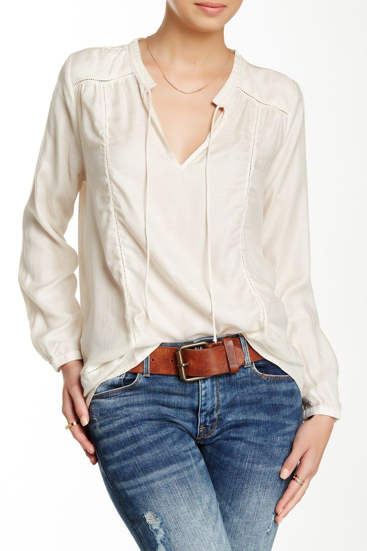 Lucky Brand | Holiday Peasant Top