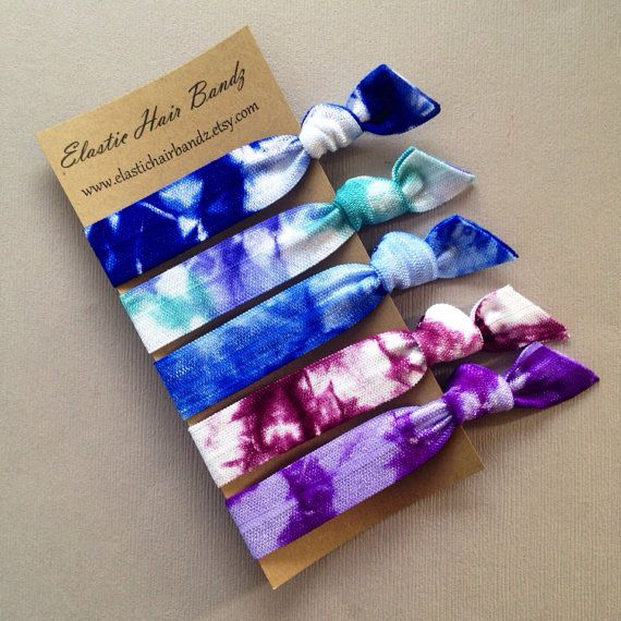 The Kelli Hair Tie Collection - 5 Elastic Hair Ties by Elastic Hair Bandz on Etsy