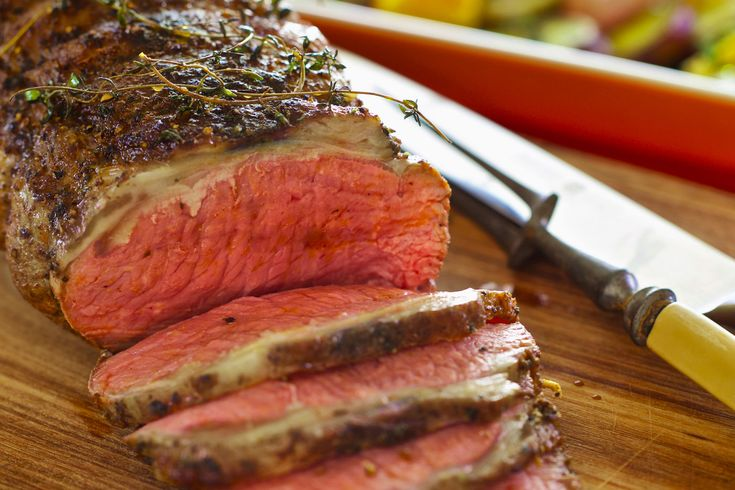 Rare Roast Beef With a Thyme and Cumin Rub and Warm Spring Salad - Make…