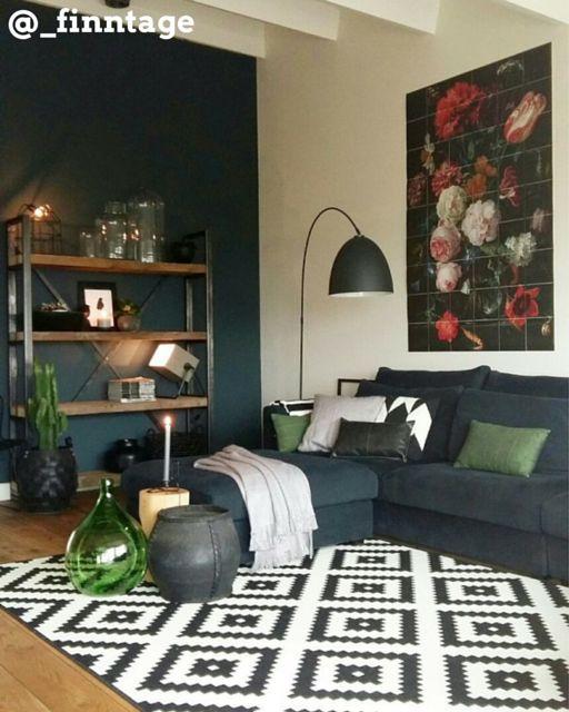 Woonkamer grijs groen landelijke stijl woonkamer - Woonkamer muur grijs ...