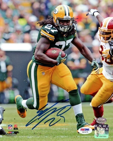 Eddie Lacy Autographed 8x10 Photo Green Bay Packers PSA/DNA Stock #77764