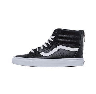 Vans | Sk8-Hi Zip Croc Leather Black
