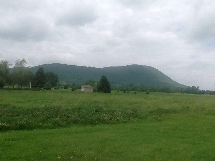 June 11th 2015. Half of Mont Saint-Hilaire seen from St-Jean Baptiste de Rouville