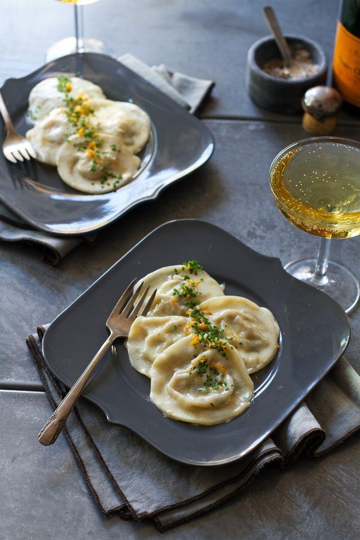 Dungeness Crab Ravioli with Meyer Lemon Cream Sauce | http://saltandwind.com