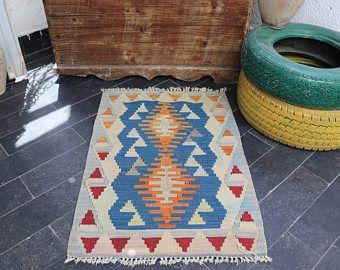 FREE SHIPPING 2.1 x 3 Turkish Kilim Rug Geometric Patterned Decorative Rugs  Handmade Vintage Anatolian Kilim Rug  Pastel Color No 84 -    Edit Listing  - Etsy