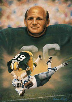 #2 Ray Nitschke    #66     Green Bay Packers 1958	1972	190	LB	AV 130