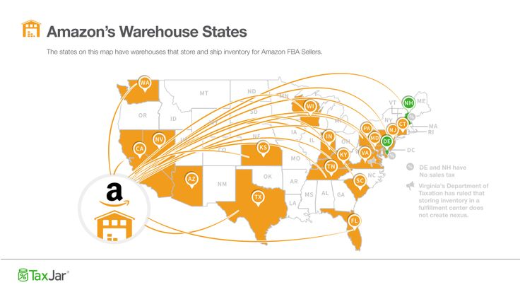 Amazon Fulfillment Center locations. Updated MAY 2016! Ensure you're collecting sales tax in the right states